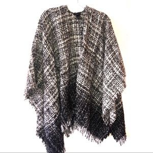 ANN TAYLOR TWEED PONCHO GORGEOUS SOFT ONE SIZE